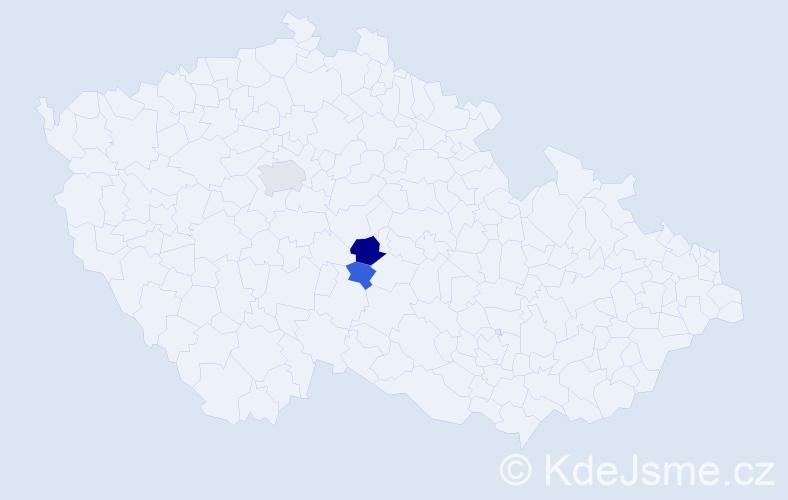 Příjmení: 'Effa', počet výskytů 5 v celé ČR