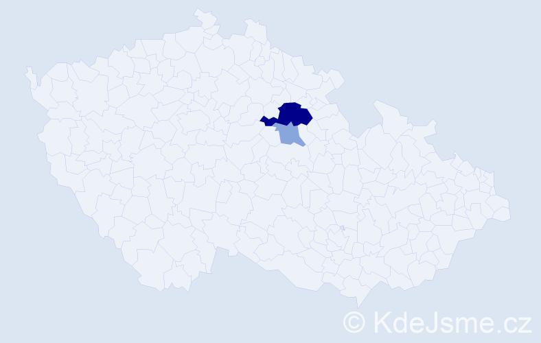 Příjmení: 'Grützner', počet výskytů 6 v celé ČR