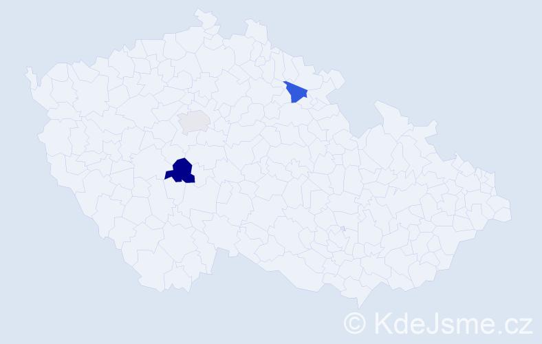 Příjmení: 'Csányi', počet výskytů 10 v celé ČR