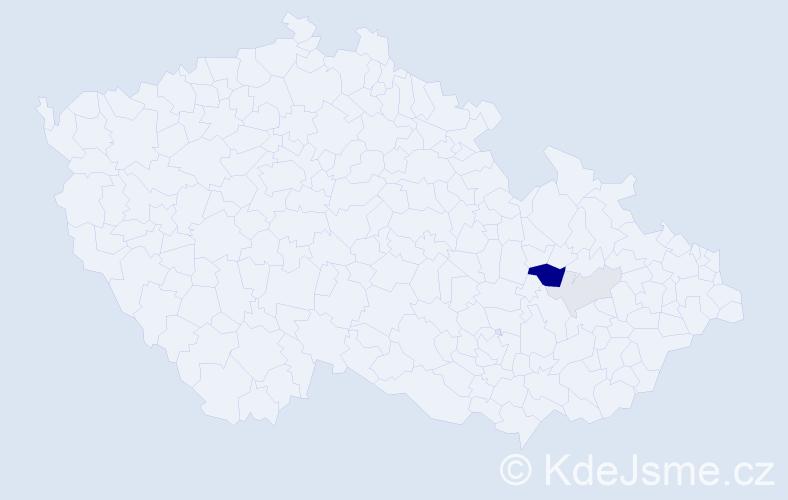 Příjmení: 'Erlecová', počet výskytů 9 v celé ČR