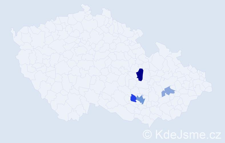 Příjmení: 'Halavínová', počet výskytů 9 v celé ČR