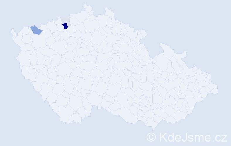 Příjmení: 'Leissnerová', počet výskytů 9 v celé ČR