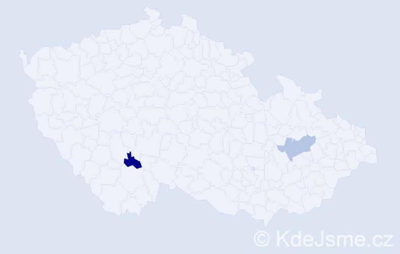 Příjmení: 'Gerula', počet výskytů 2 v celé ČR