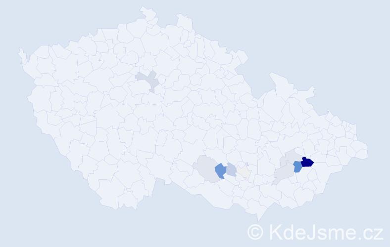 Příjmení: 'Hlavizňa', počet výskytů 20 v celé ČR