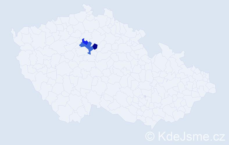 Příjmení: 'Čitarský', počet výskytů 4 v celé ČR