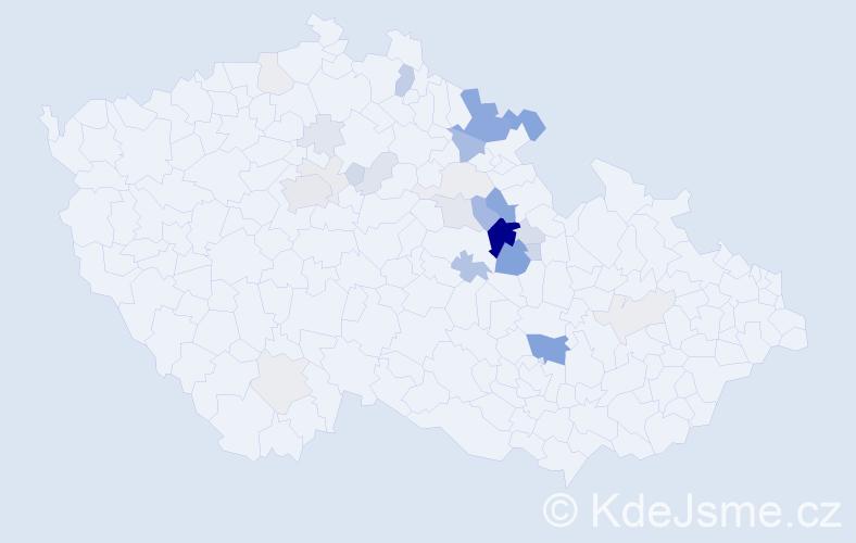 Příjmení: 'Kadrmasová', počet výskytů 90 v celé ČR