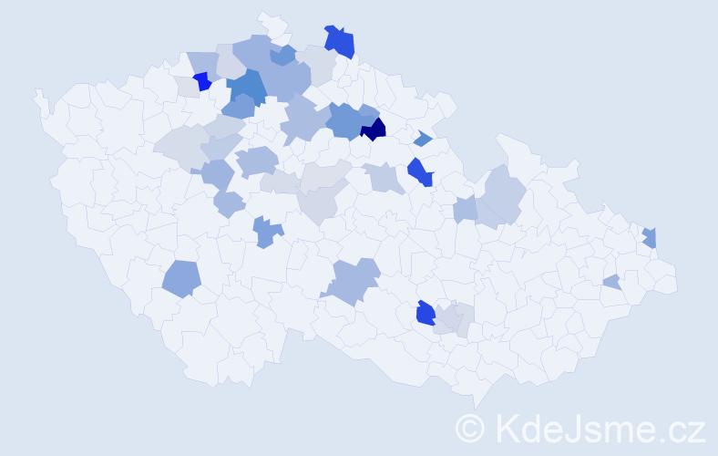Příjmení: 'Lepšík', počet výskytů 141 v celé ČR
