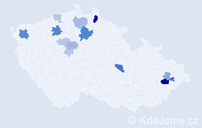 Příjmení: 'Beitl', počet výskytů 35 v celé ČR