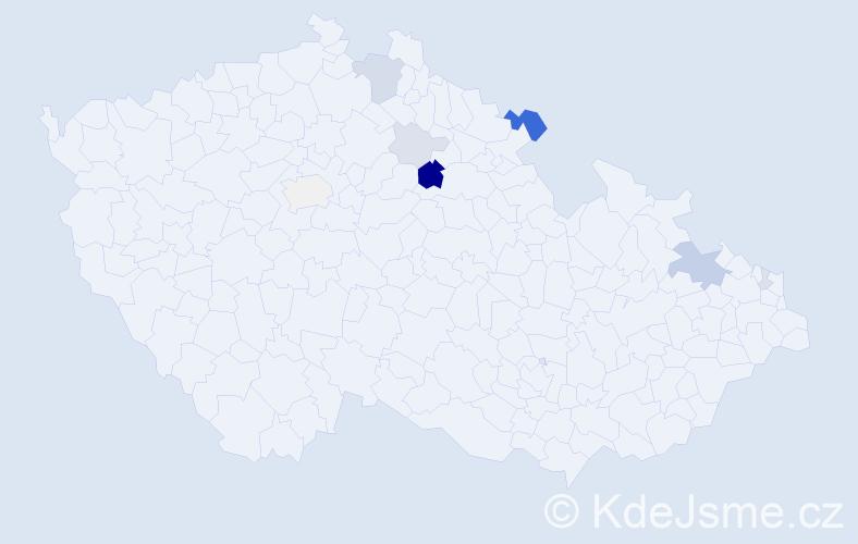 Příjmení: 'Grusman', počet výskytů 24 v celé ČR