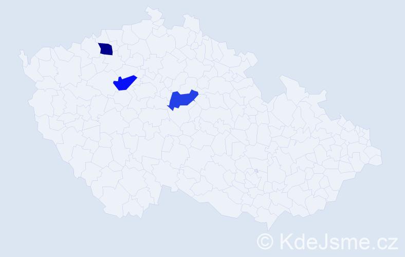 Příjmení: 'Koleszárová', počet výskytů 8 v celé ČR