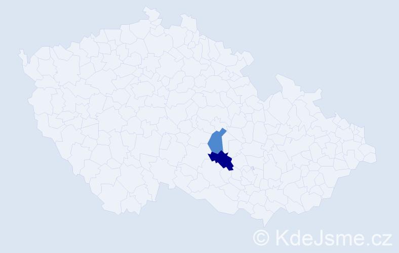 Příjmení: 'Invald', počet výskytů 8 v celé ČR