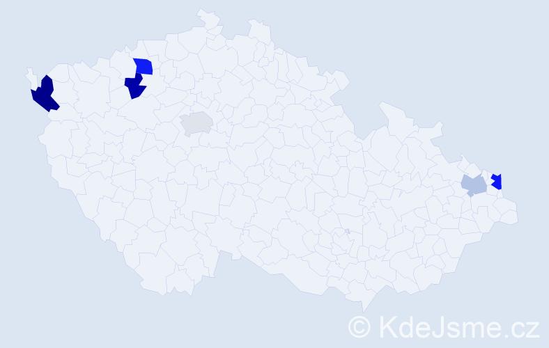 Příjmení: 'Chalásová', počet výskytů 9 v celé ČR