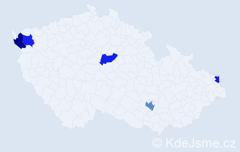 Příjmení: 'Ibolyová', počet výskytů 6 v celé ČR