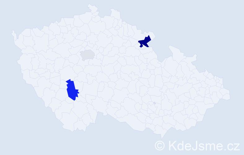 Příjmení: 'Ceprová', počet výskytů 10 v celé ČR
