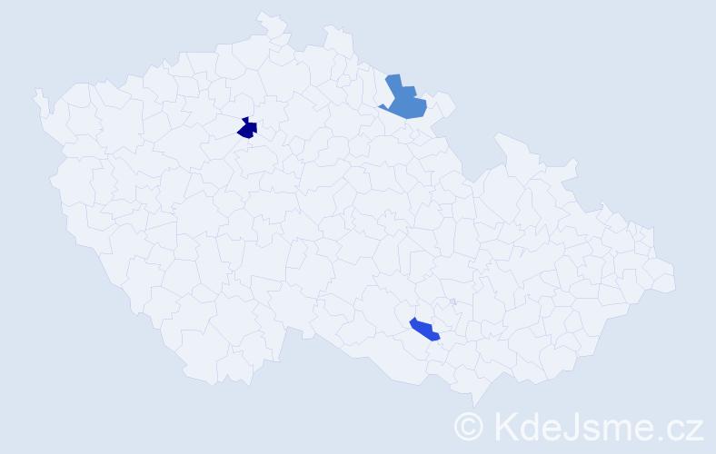 Příjmení: 'Čurma', počet výskytů 5 v celé ČR