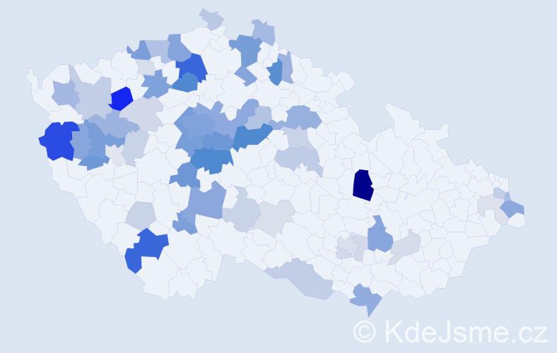 Příjmení: 'Daneš', počet výskytů 201 v celé ČR