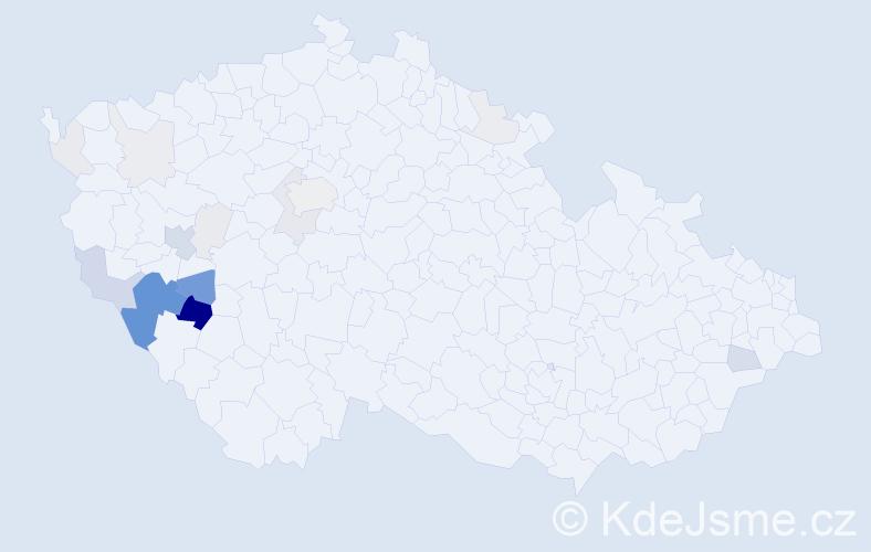 Příjmení: 'Kubaň', počet výskytů 61 v celé ČR
