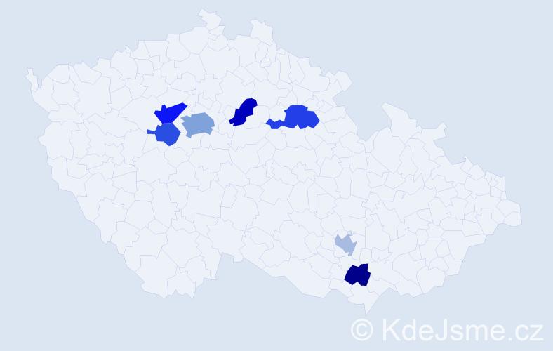 Příjmení: 'Květinová', počet výskytů 13 v celé ČR