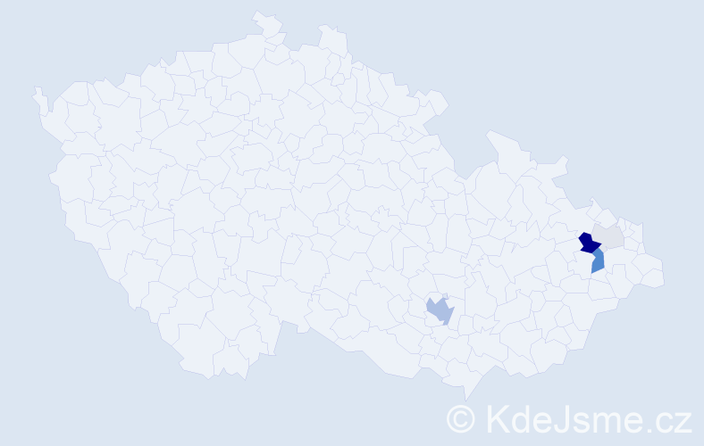 Příjmení: 'Augste', počet výskytů 13 v celé ČR