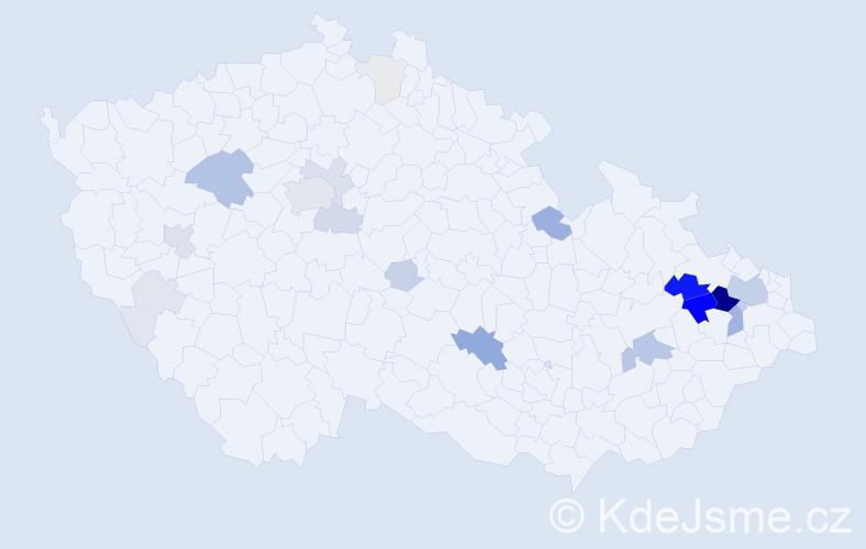 Příjmení: 'Blaheta', počet výskytů 81 v celé ČR