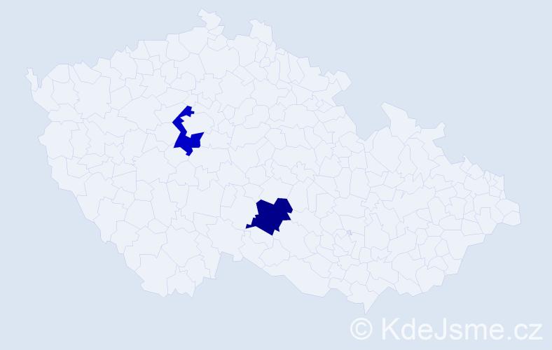Příjmení: 'Gráčová', počet výskytů 2 v celé ČR