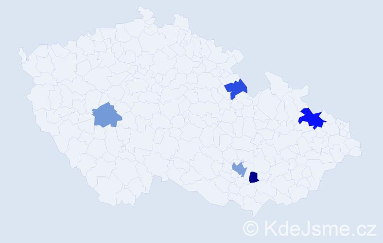 Příjmení: 'Černinová', počet výskytů 9 v celé ČR