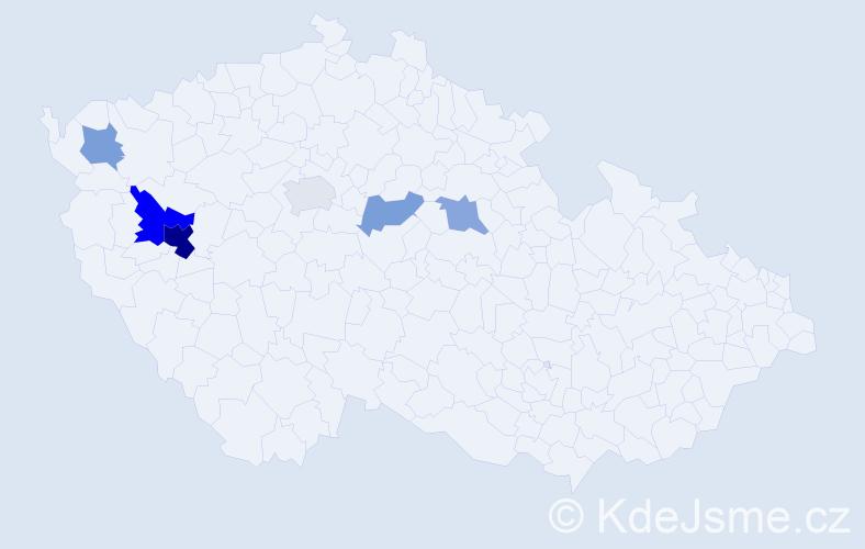 Příjmení: 'Kunzendörferová', počet výskytů 12 v celé ČR
