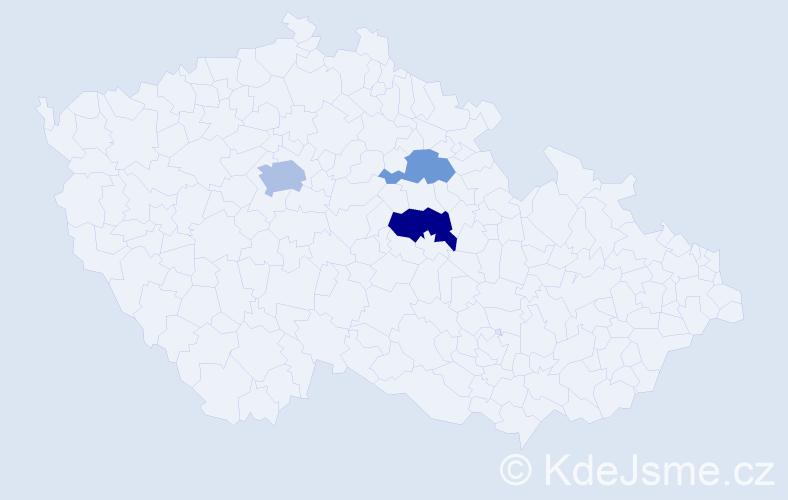 Příjmení: 'Grassinger', počet výskytů 11 v celé ČR