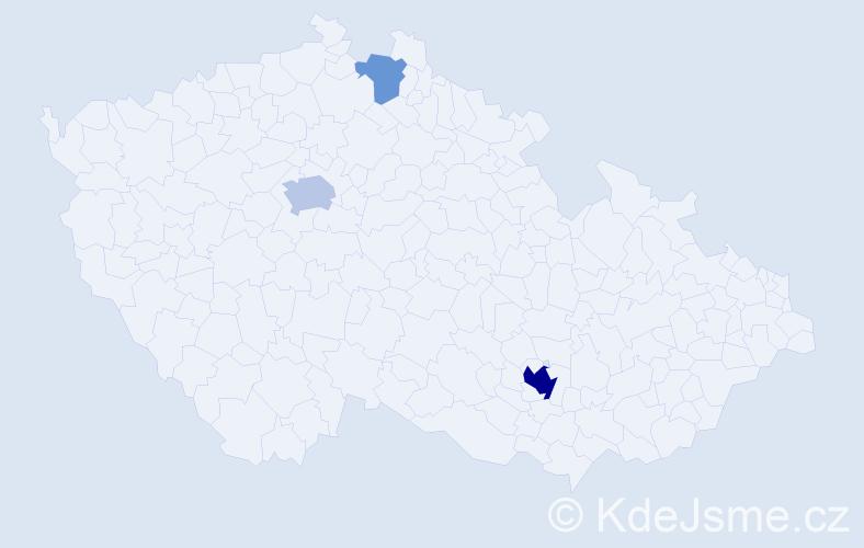 Příjmení: 'Harel', počet výskytů 9 v celé ČR
