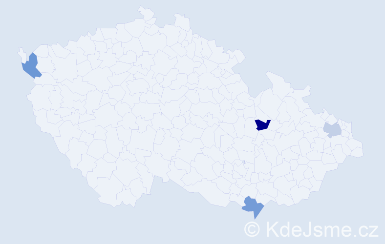 Příjmení: 'Gajdošková', počet výskytů 4 v celé ČR