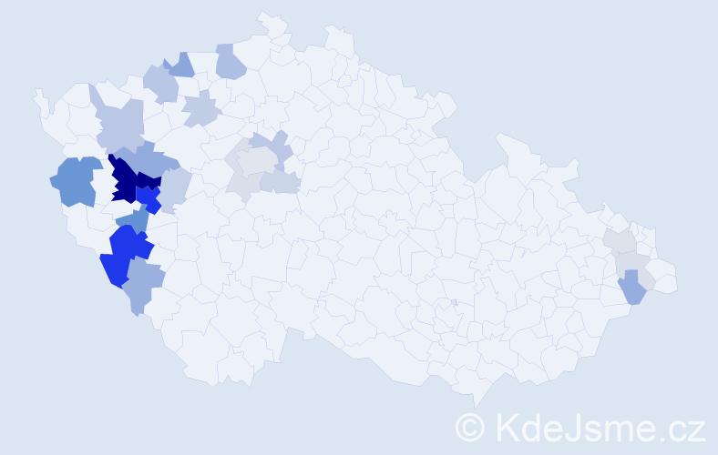 Příjmení: 'Bělohlavá', počet výskytů 71 v celé ČR