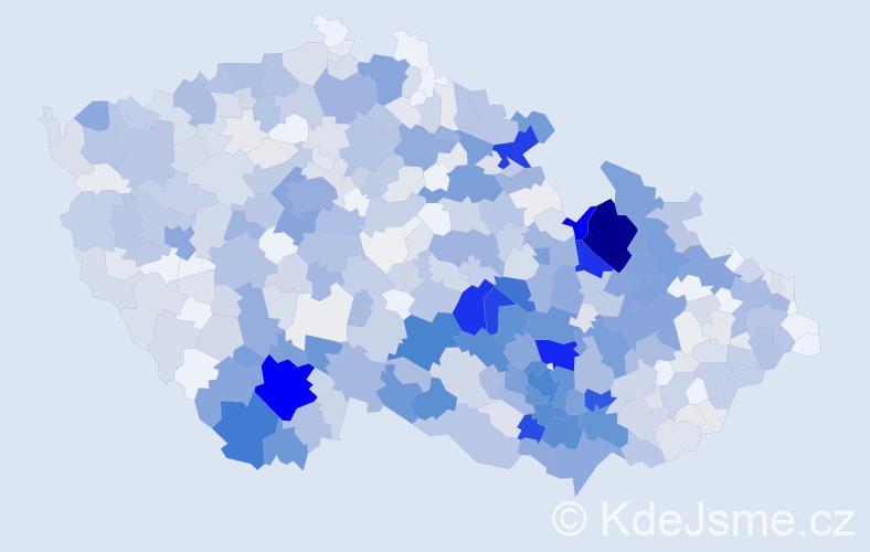 Příjmení: 'Klimešová', počet výskytů 3310 v celé ČR