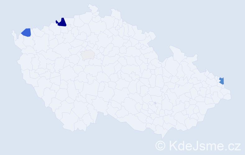 Příjmení: 'Ádámová', počet výskytů 11 v celé ČR