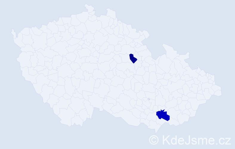 Příjmení: 'Halajčuková', počet výskytů 4 v celé ČR
