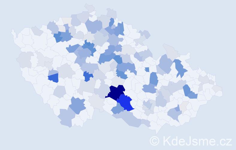 Příjmení: 'Hons', počet výskytů 484 v celé ČR