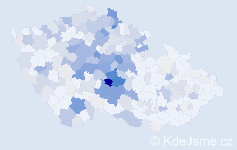 Příjmení: 'Jirák', počet výskytů 1042 v celé ČR