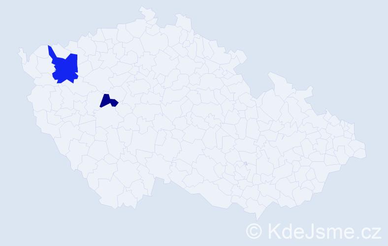 Příjmení: 'Erfurth', počet výskytů 6 v celé ČR