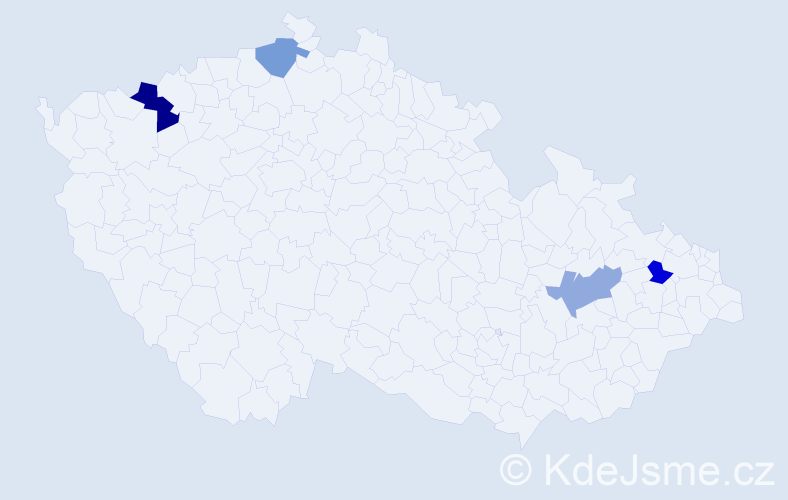 Příjmení: 'Batory', počet výskytů 5 v celé ČR