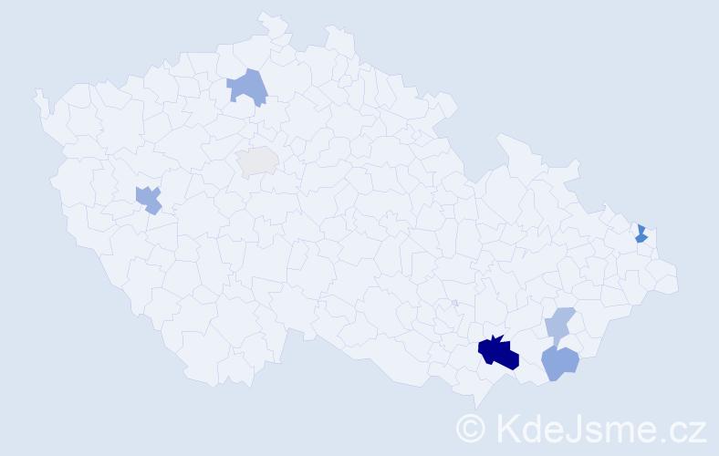 Příjmení: 'Ebringer', počet výskytů 13 v celé ČR