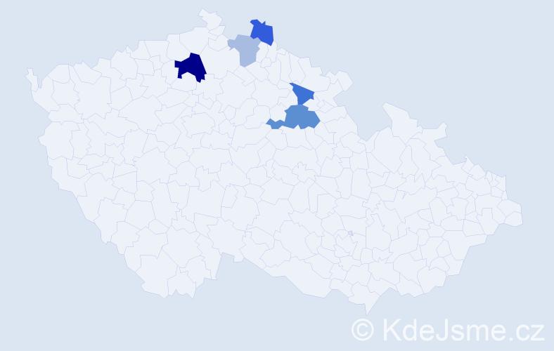 Příjmení: 'Dráha', počet výskytů 10 v celé ČR