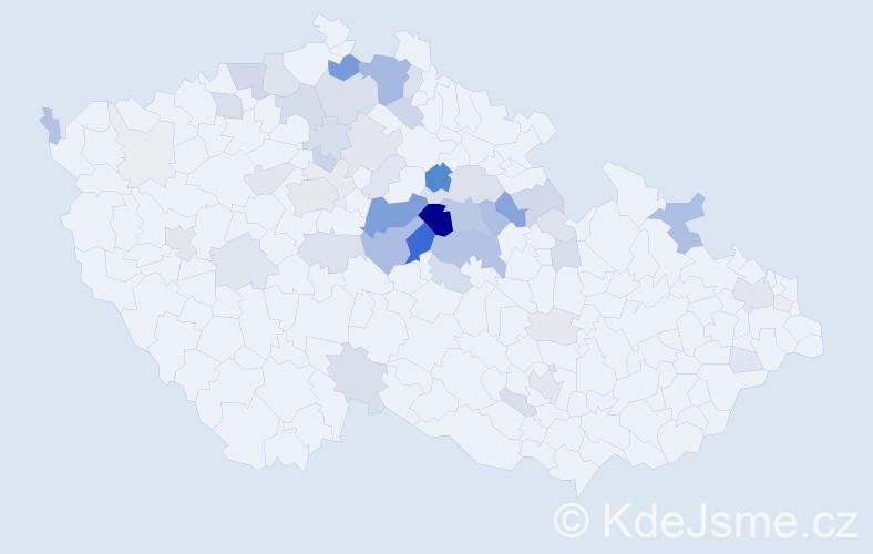 Příjmení: 'Foršt', počet výskytů 193 v celé ČR