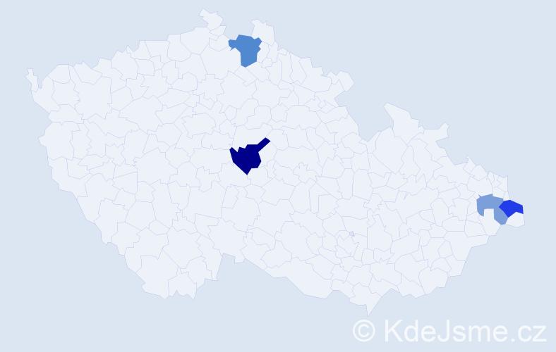Příjmení: 'Ladomirjaková', počet výskytů 13 v celé ČR