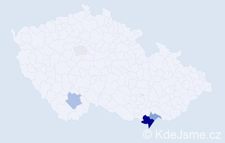 Příjmení: 'Galanidis', počet výskytů 7 v celé ČR
