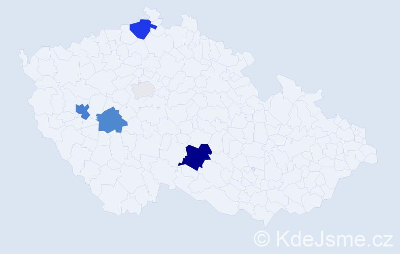 Příjmení: 'Gattringer', počet výskytů 15 v celé ČR