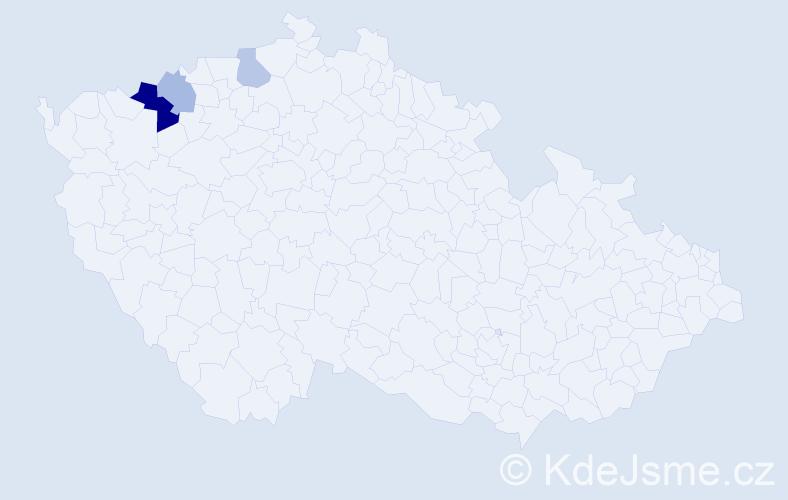 Příjmení: 'Išlerová', počet výskytů 6 v celé ČR
