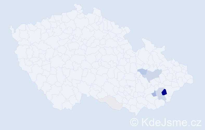 Příjmení: 'Kobylíková', počet výskytů 30 v celé ČR