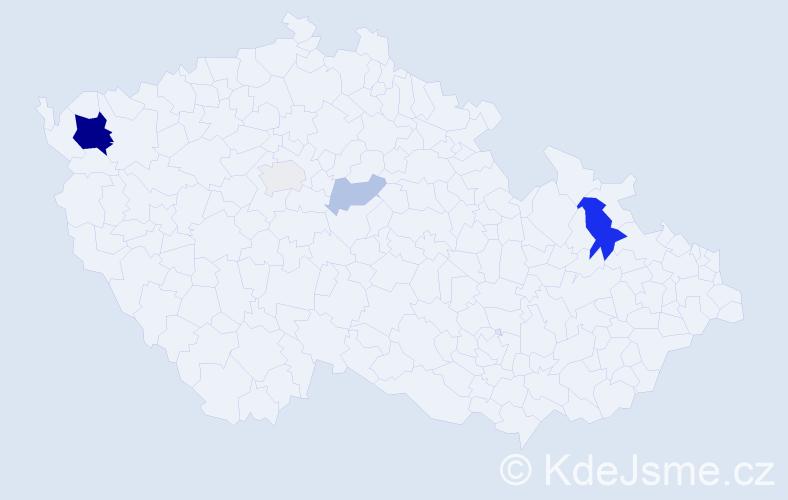 Příjmení: 'Lerichová', počet výskytů 13 v celé ČR