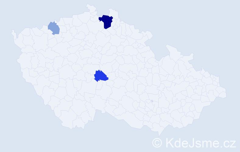 Příjmení: 'Janisová', počet výskytů 8 v celé ČR