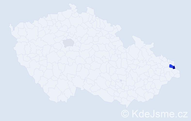 Příjmení: 'Lebioda', počet výskytů 4 v celé ČR