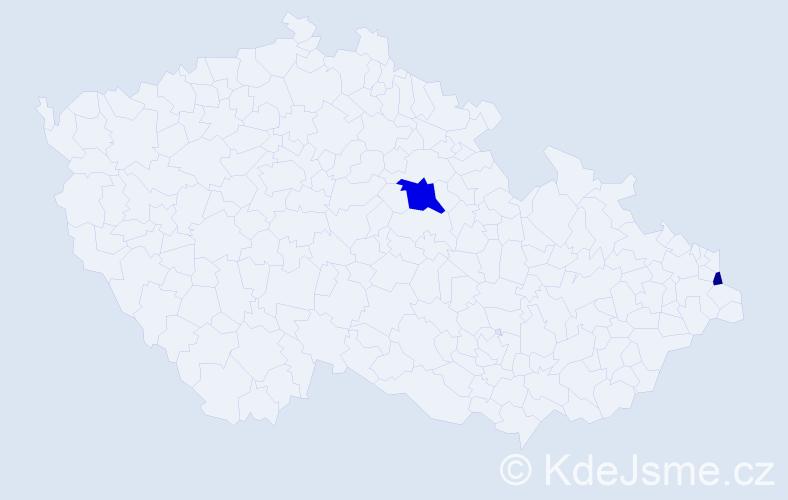 Příjmení: 'Lalov', počet výskytů 4 v celé ČR